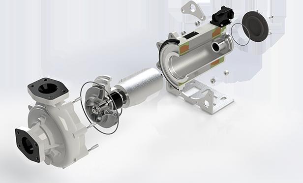 Speck Kühlmittelpumpe SR032125-01 für Bahn und Windkraft